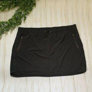 Athleta black drawstring pocket skort  2X shorts